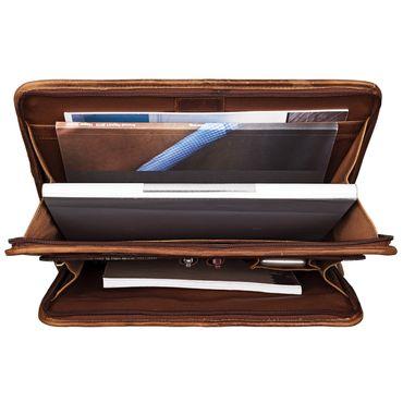"STILORD ""Maximilian"" Dokumentenmappe Leder 13,3 Zoll Vintage Schreibmappe MacBook Aktentasche Aktenmappe – Bild 5"