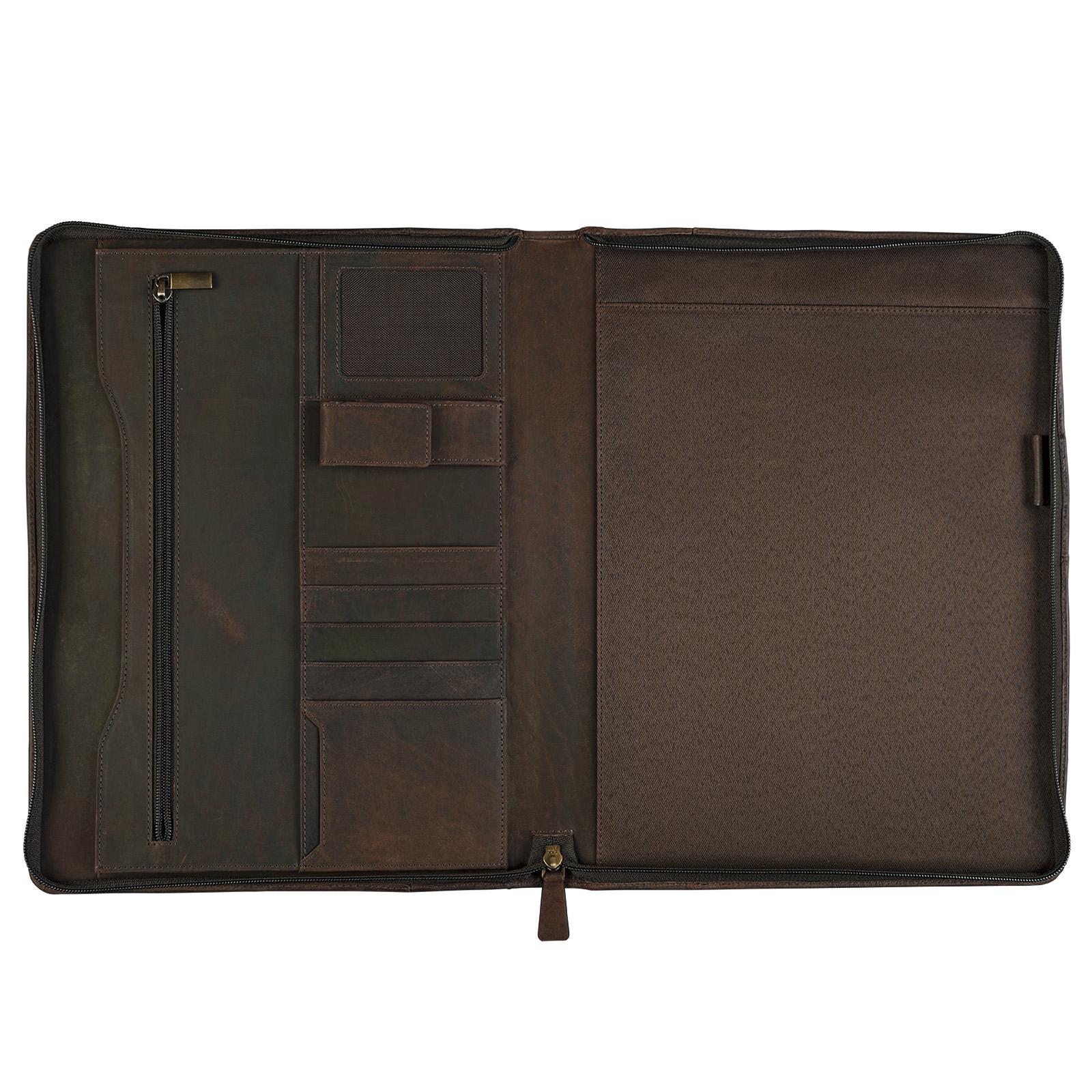 """STILORD """"Justus"""" Aktenmappe Leder mit Griff MacBooktasche 13,3 Zoll Schreibmappe Konferenzmappe Aktentasche Dokumentenmappe mit Henkel echtes Leder - Bild 10"""