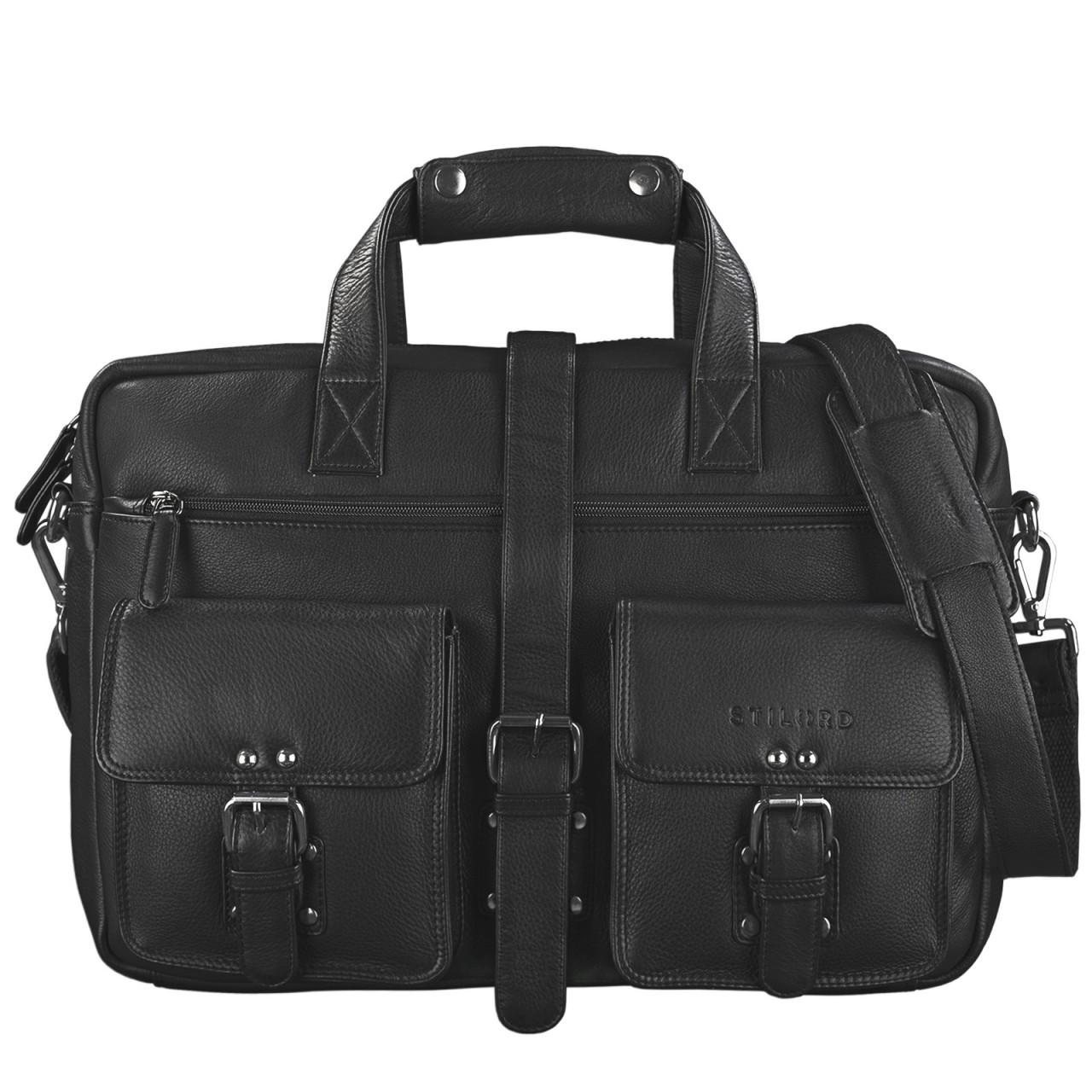 """STILORD """"Michael"""" Lehrertasche Leder Vintage Leder Laptoptasche 15,6 Zoll groß Büro Uni Herren Damen Rindsleder - Bild 15"""