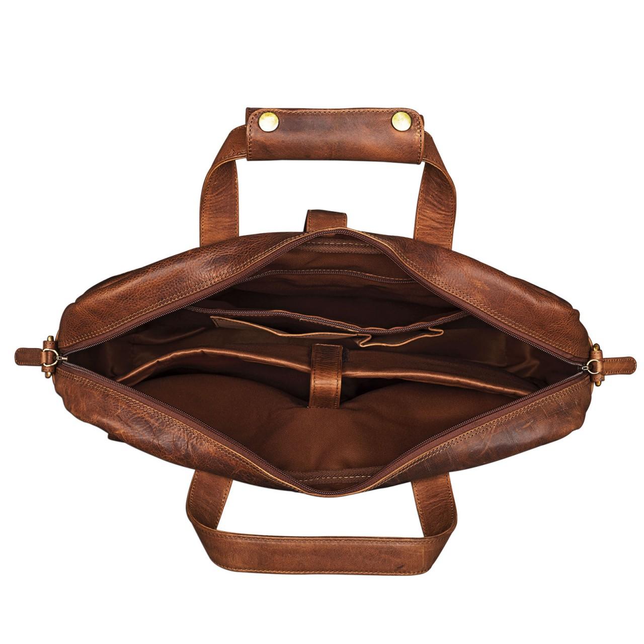 """STILORD """"Michael"""" Lehrertasche Leder Vintage Leder Laptoptasche 15,6 Zoll groß Büro Uni Herren Damen Rindsleder - Bild 12"""