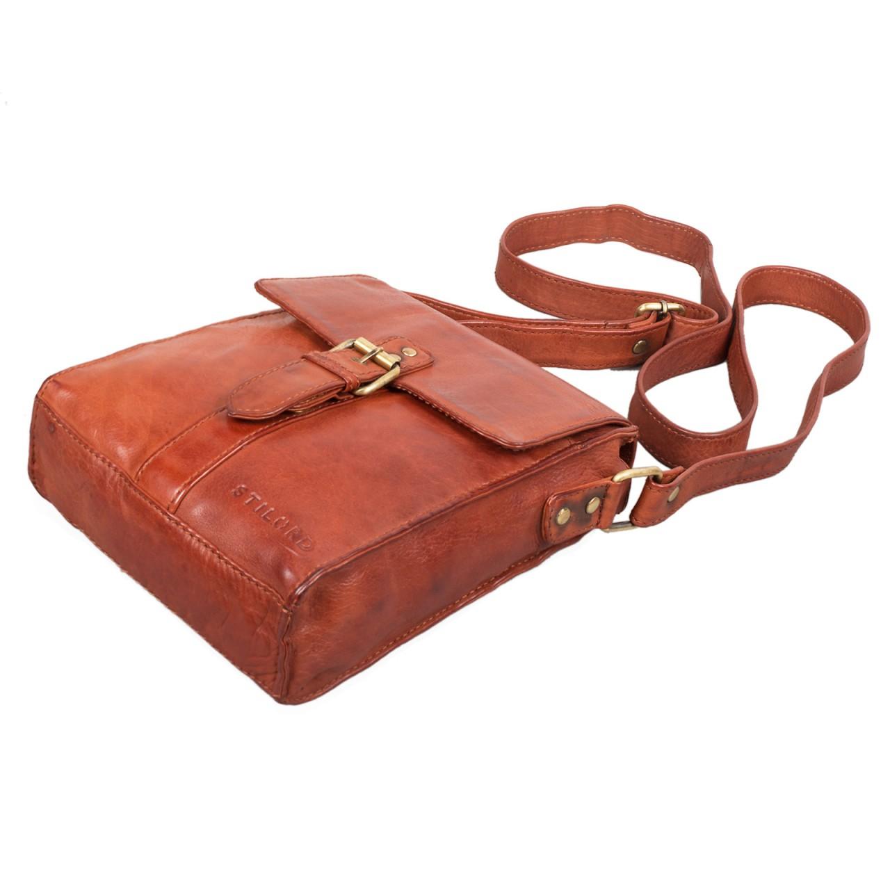 """STILORD """"Kilian"""" Vintage Umhängetasche Leder klein Unisex Messenger Bag für 8,4 Zoll Tablets Schultertasche Herren Damen echtes Leder - Bild 20"""
