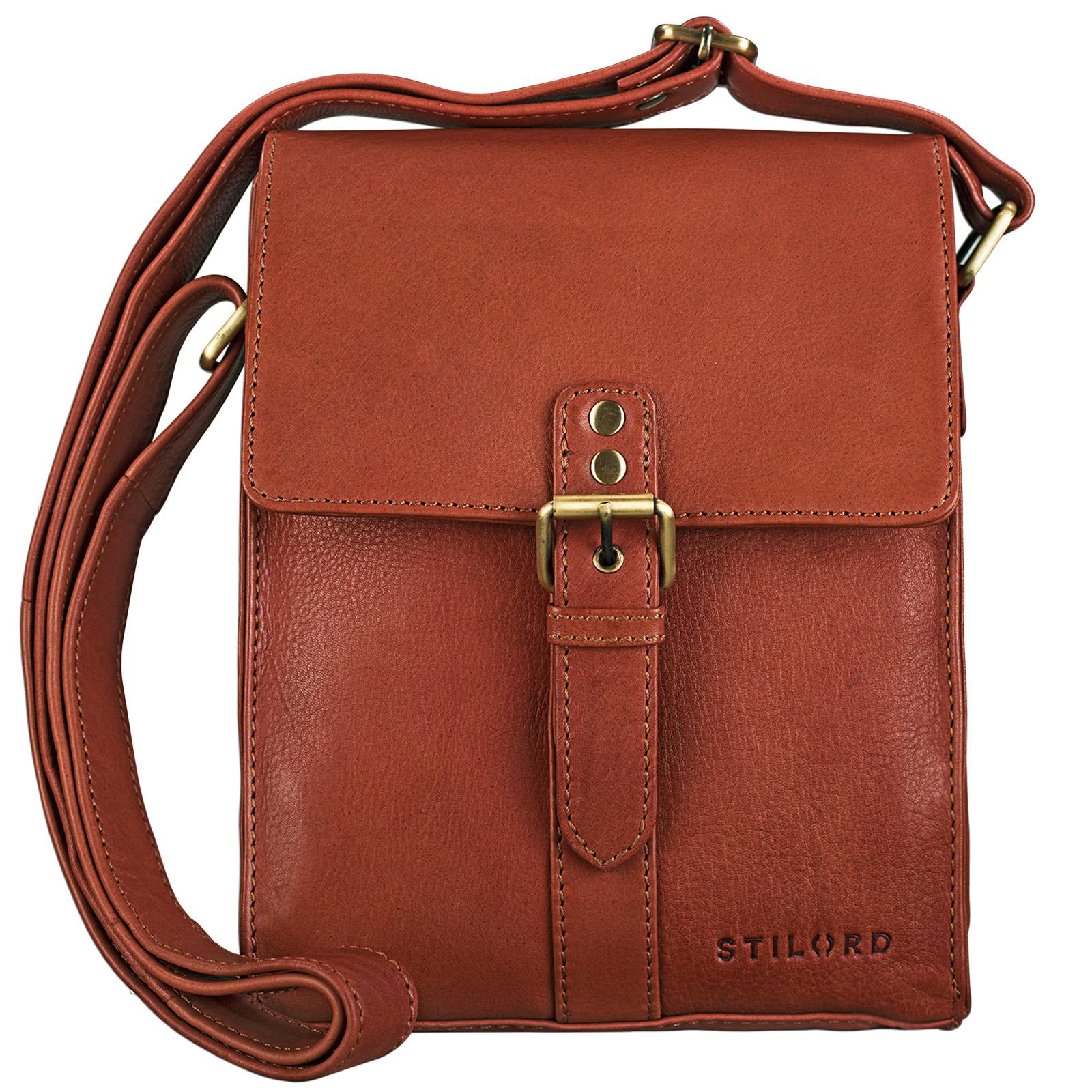 """STILORD """"Kilian"""" Vintage Umhängetasche Leder klein Unisex Messenger Bag für 8,4 Zoll Tablets Schultertasche Herren Damen echtes Leder - Bild 8"""