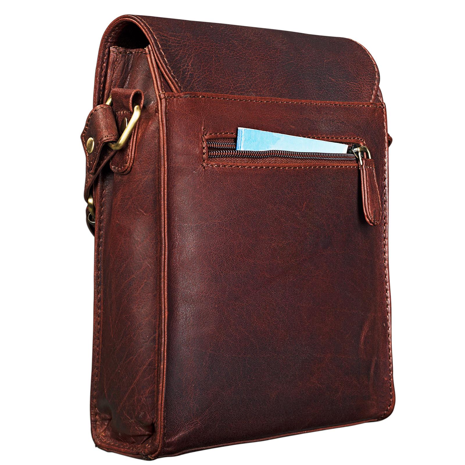 """STILORD """"Kilian"""" Vintage Umhängetasche Leder klein Unisex Messenger Bag für 8,4 Zoll Tablets Schultertasche Herren Damen echtes Leder - Bild 7"""