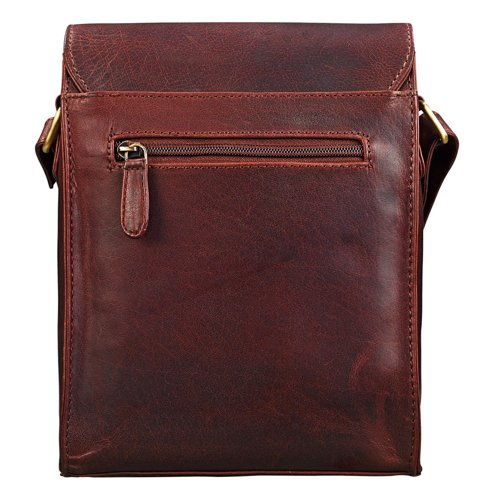 """STILORD """"Kilian"""" Vintage Umhängetasche Leder klein Unisex Messenger Bag für 8,4 Zoll Tablets Schultertasche Herren Damen echtes Leder - Bild 6"""