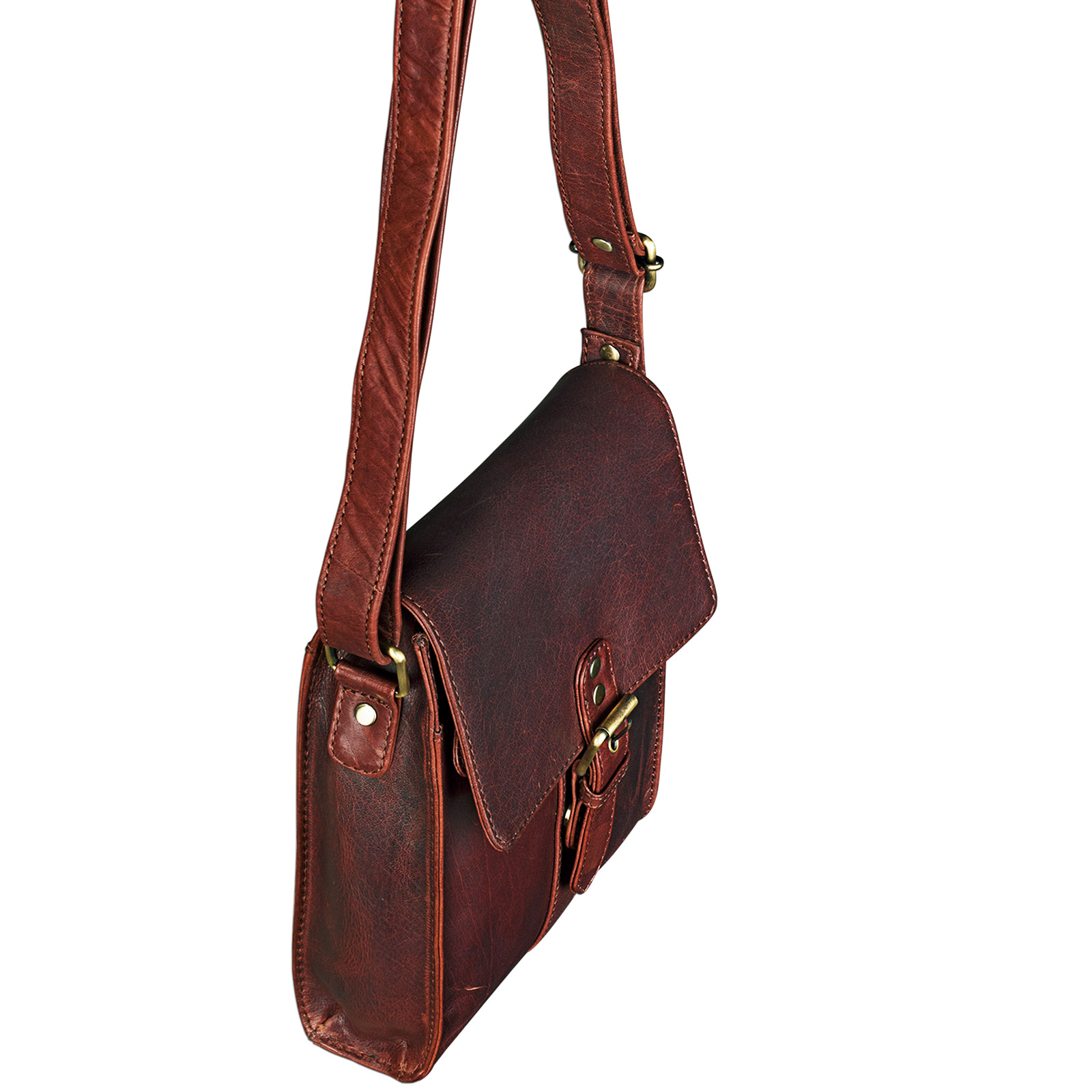 """STILORD """"Kilian"""" Vintage Umhängetasche Leder klein Unisex Messenger Bag für 8,4 Zoll Tablets Schultertasche Herren Damen echtes Leder - Bild 4"""