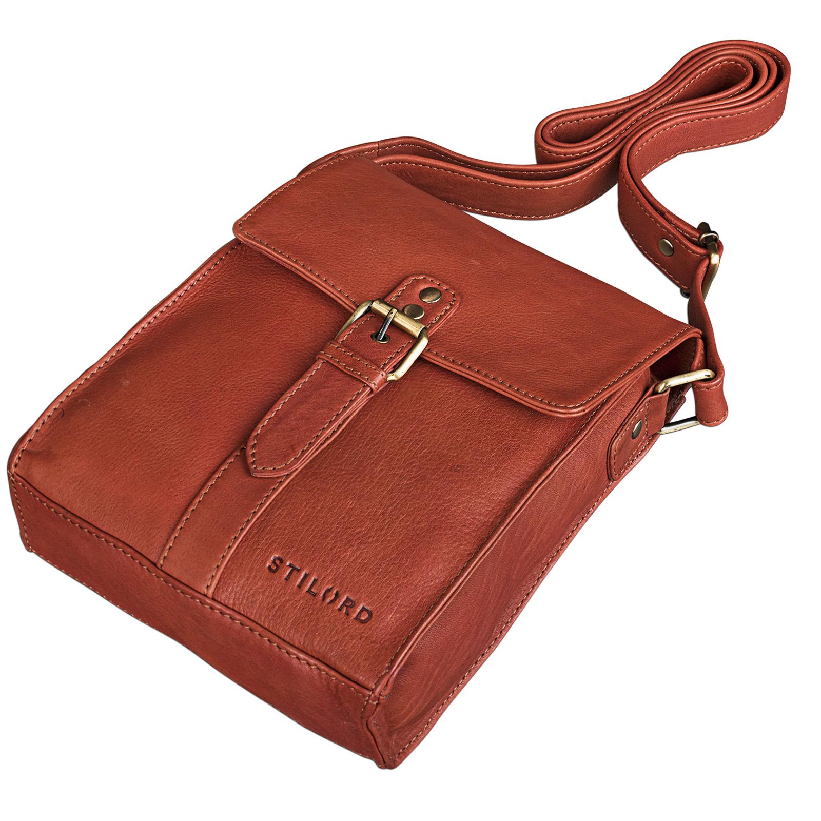 """STILORD """"Kilian"""" Vintage Umhängetasche Leder klein Unisex Messenger Bag für 8,4 Zoll Tablets Schultertasche Herren Damen echtes Leder - Bild 12"""