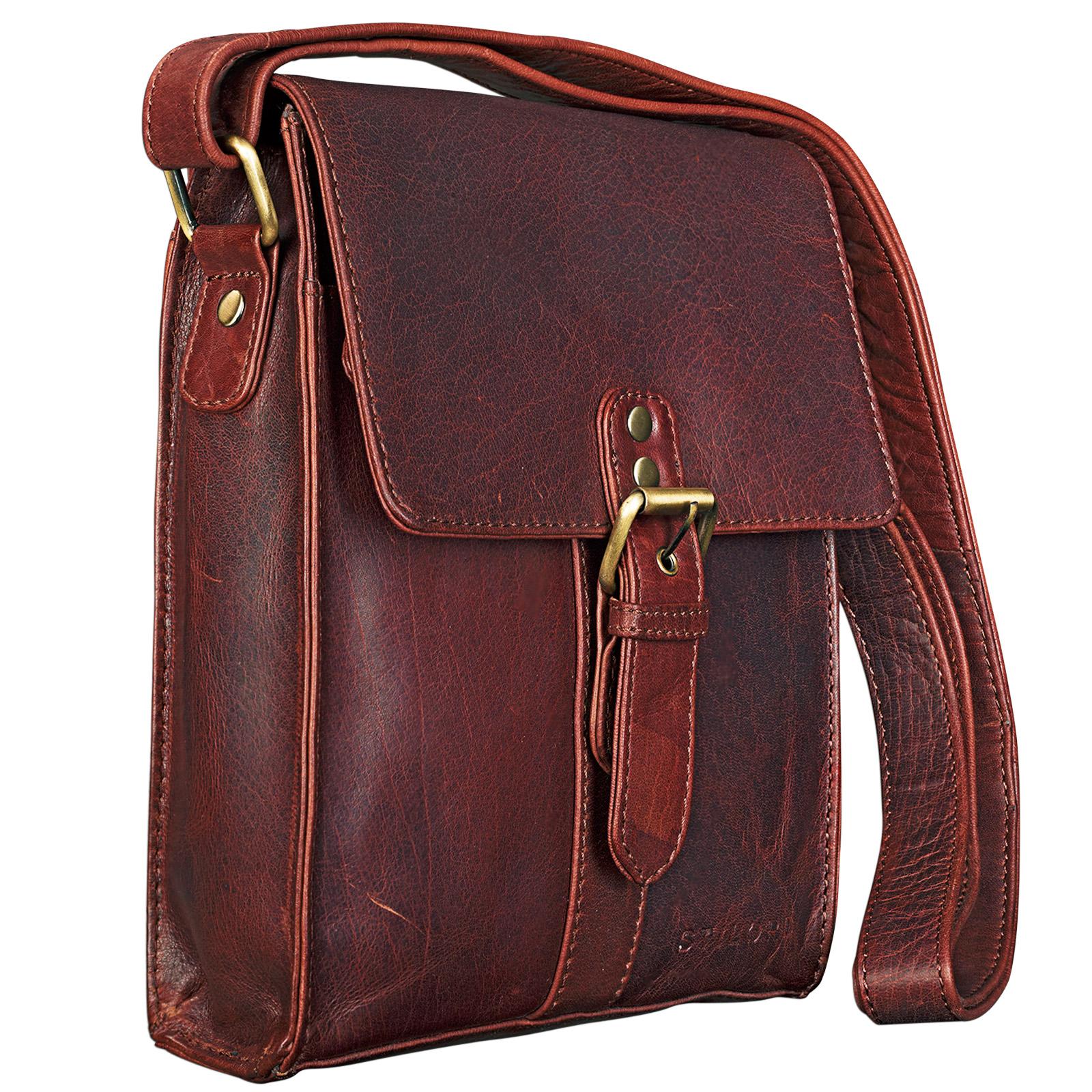 """STILORD """"Kilian"""" Vintage Umhängetasche Leder klein Unisex Messenger Bag für 8,4 Zoll Tablets Schultertasche Herren Damen echtes Leder - Bild 2"""