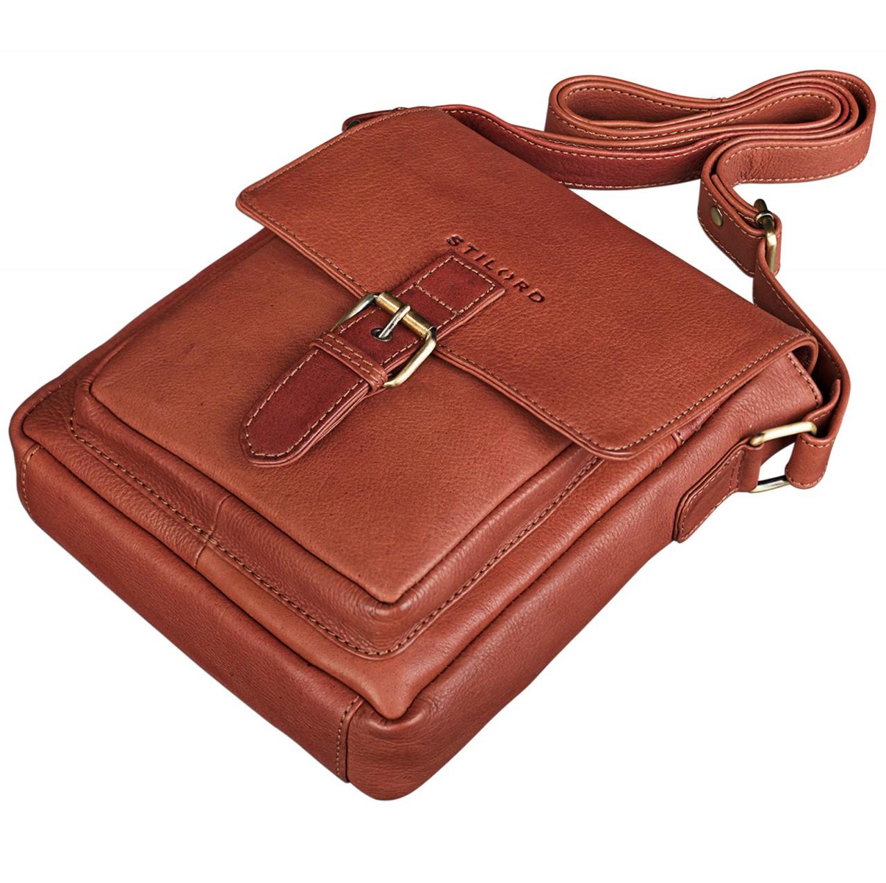 """STILORD """"Arne"""" Leder Messenger Bag klein Umhängetasche 8,4 Zoll Tablet Hülle Schultertasche Tablettasche weiches Rindsleder - Bild 17"""