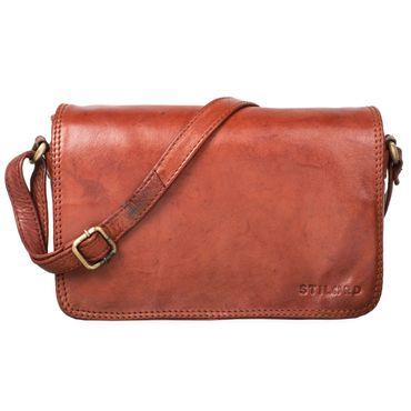 """STILORD """"Leana"""" Damen Umhängetasche Leder klein Vintage Handtasche viele Fächer elegante Ausgehtasche Vintage Echtleder – Bild 15"""