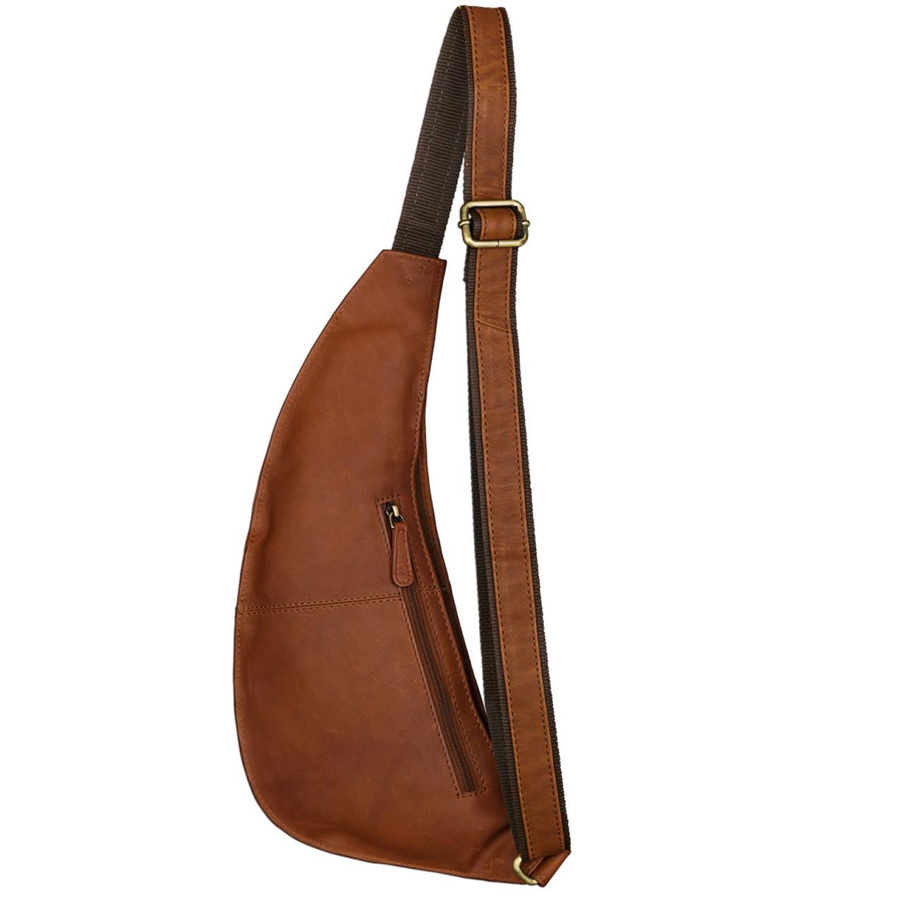 Brusttasche Leder Vintage