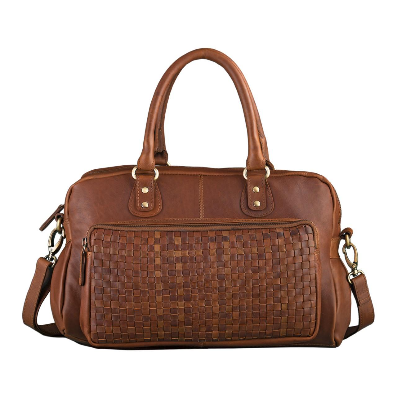 """STILORD """"Elena"""" Vintage Handtasche Damen Umhängetasche geflochten elegante Ledertasche Shopping Ausgehen weiches Leder - Bild 2"""