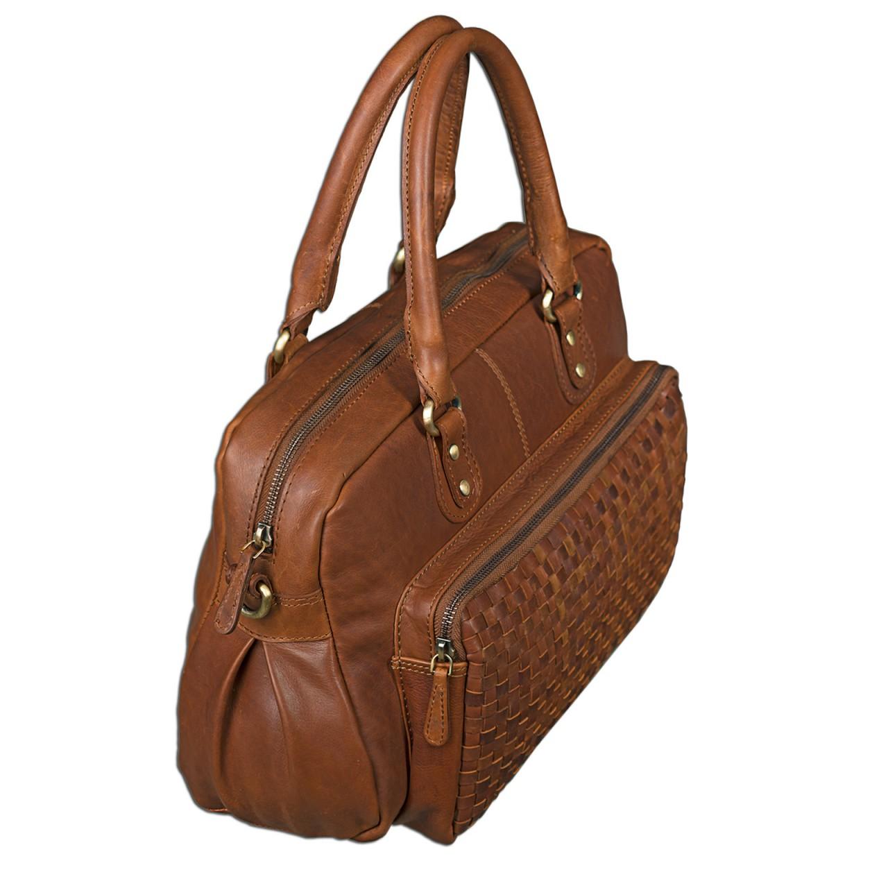 """STILORD """"Elena"""" Vintage Handtasche Damen Umhängetasche geflochten elegante Ledertasche Shopping Ausgehen weiches Leder - Bild 5"""