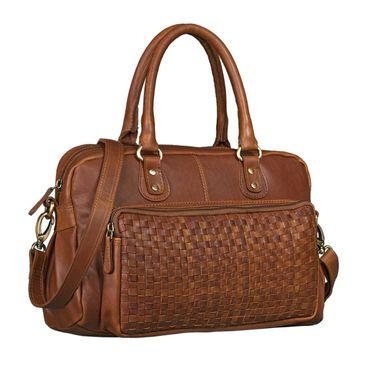 """STILORD """"Elena"""" Vintage Handtasche Damen Umhängetasche geflochten elegante Ledertasche Shopping Ausgehen weiches Leder"""