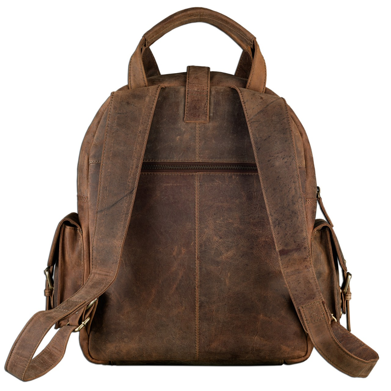 "STILORD ""Nevada"" Rucksack Leder groß im Vintage Design mit 13,3 Zoll Laptopfach Unisex Lederrucksack Uni Schule Lehrer Echtleder  - Bild 3"