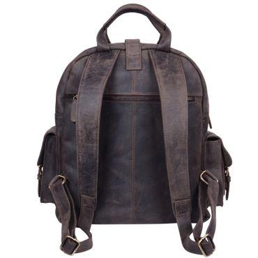 "STILORD ""Nevada"" Rucksack Leder groß im Vintage Design mit 13,3 Zoll Laptopfach Unisex Lederrucksack Uni Schule Lehrer Echtleder  – Bild 12"