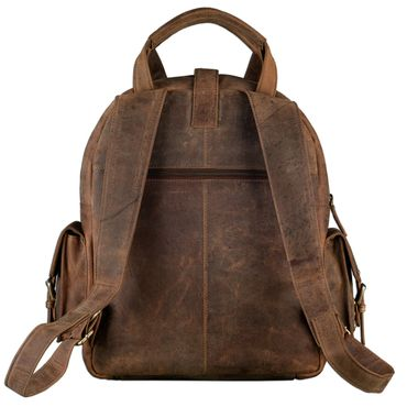 "STILORD ""Nevada"" Rucksack Leder groß im Vintage Design mit 13,3 Zoll Laptopfach Unisex Lederrucksack Uni Schule Lehrer Echtleder  – Bild 3"