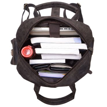"STILORD ""Nevada"" Rucksack Leder groß im Vintage Design mit 13,3 Zoll Laptopfach Unisex Lederrucksack Uni Schule Lehrer Echtleder  – Bild 11"
