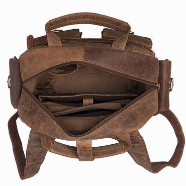 "STILORD ""Nevada"" Rucksack Leder groß im Vintage Design mit 13,3 Zoll Laptopfach Unisex Lederrucksack Uni Schule Lehrer Echtleder  – Bild 5"