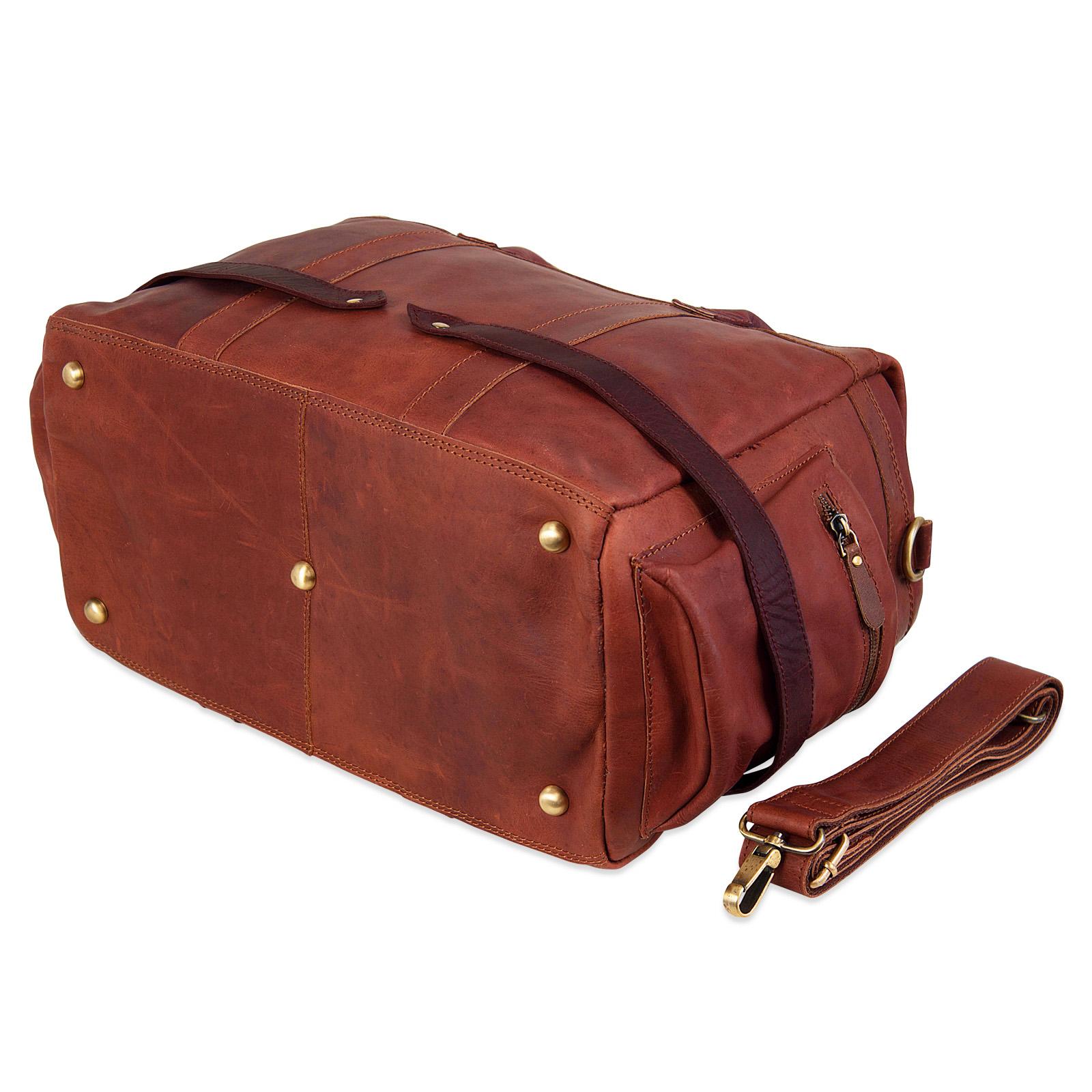 """STILORD """"Travis"""" Weekender Leder Vintage kleine Reisetasche zum Umhängen Handgepäck Reisegepäck Schultertasche in Kabinengröße echtes Büffelleder - Bild 7"""