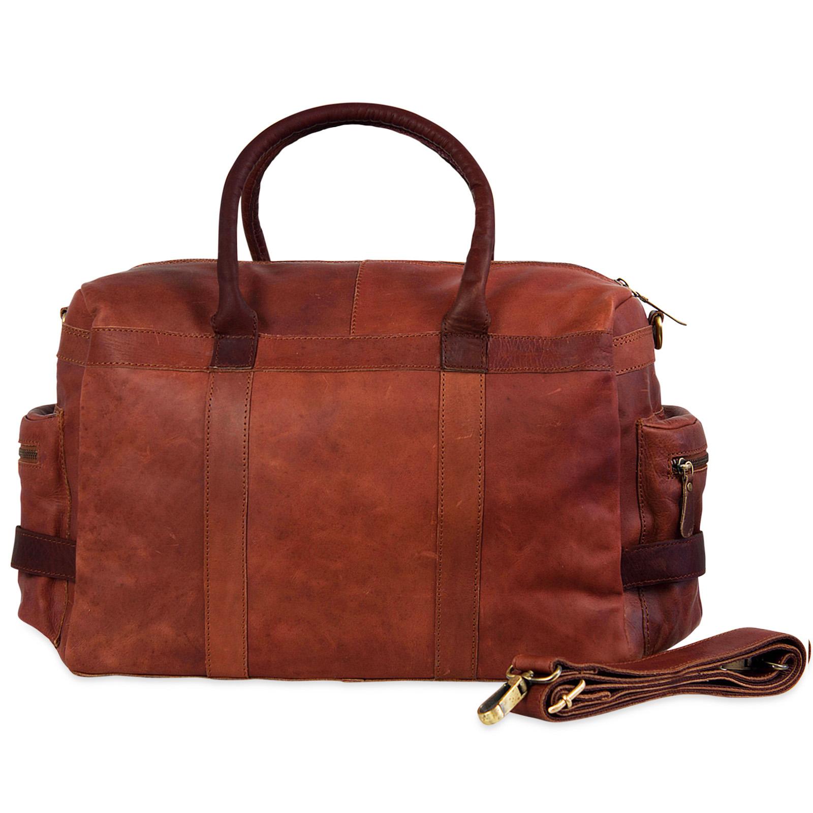 """STILORD """"Travis"""" Weekender Leder Vintage kleine Reisetasche zum Umhängen Handgepäck Reisegepäck Schultertasche in Kabinengröße echtes Büffelleder - Bild 8"""