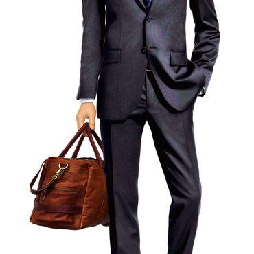 """STILORD """"Travis"""" Weekender Leder Vintage kleine Reisetasche zum Umhängen Handgepäck Reisegepäck Schultertasche in Kabinengröße echtes Büffelleder – Bild 3"""