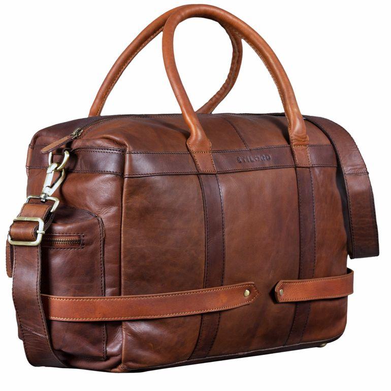 """""""Travis"""" Bolsa de viaje de piel vintage"""