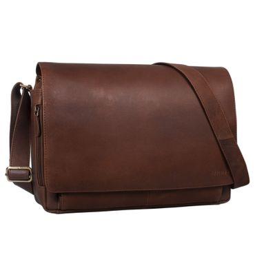 """STILORD """"Tom"""" Vintage Leder Umhängetasche für Studium Uni Büro Arbeit 15 Zoll Laptoptasche DIN A4 Schultertasche Echtleder – Bild 11"""