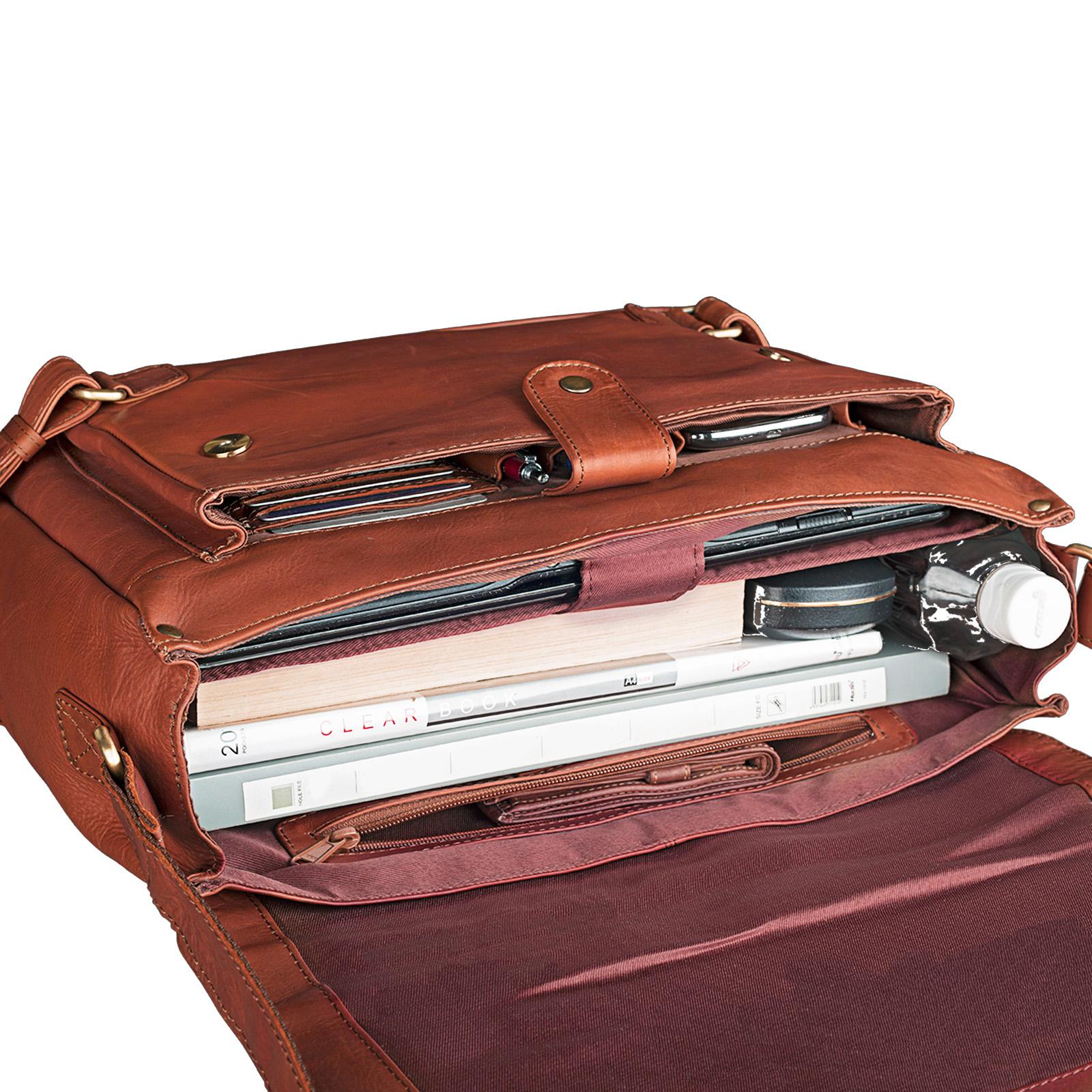 """STILORD """"Luca"""" Leder Businesstasche 15,6 Zoll Laptop Messenger Bag Vintage Aktentasche Umhängetasche Schultertasche Unisex Echtleder - Bild 7"""