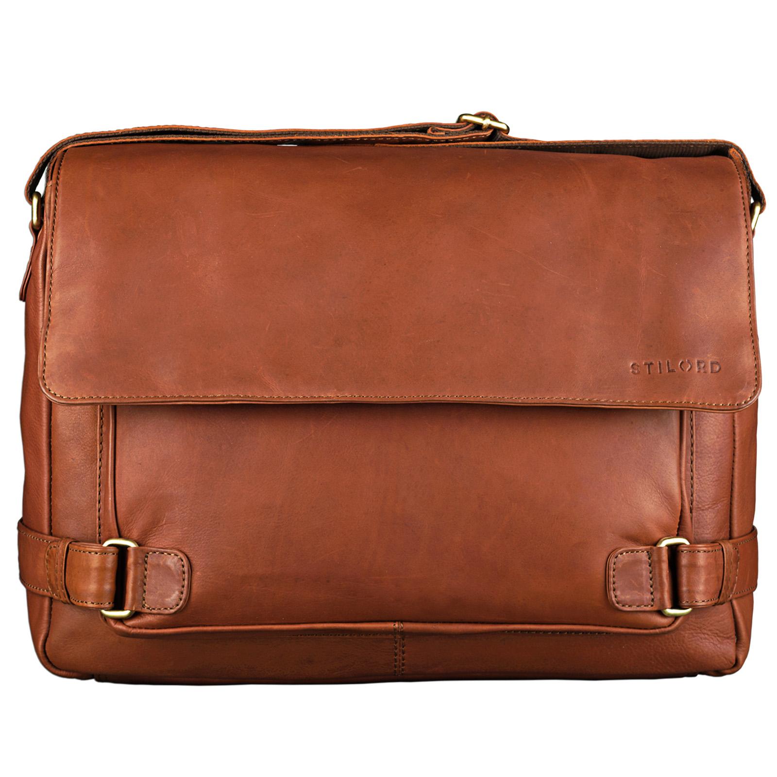 """STILORD """"Luca"""" Leder Businesstasche 15,6 Zoll Laptop Messenger Bag Vintage Aktentasche Umhängetasche Schultertasche Unisex Echtleder - Bild 3"""