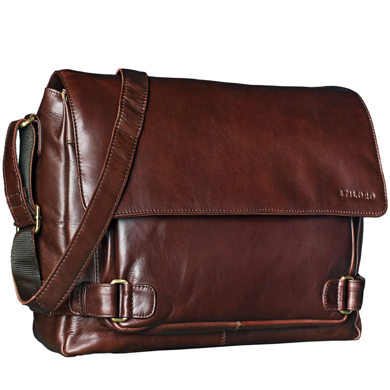 """STILORD """"Luca"""" Leder Businesstasche 15,6 Zoll Laptop Messenger Bag Vintage Aktentasche Umhängetasche Schultertasche Unisex Echtleder - Bild 8"""