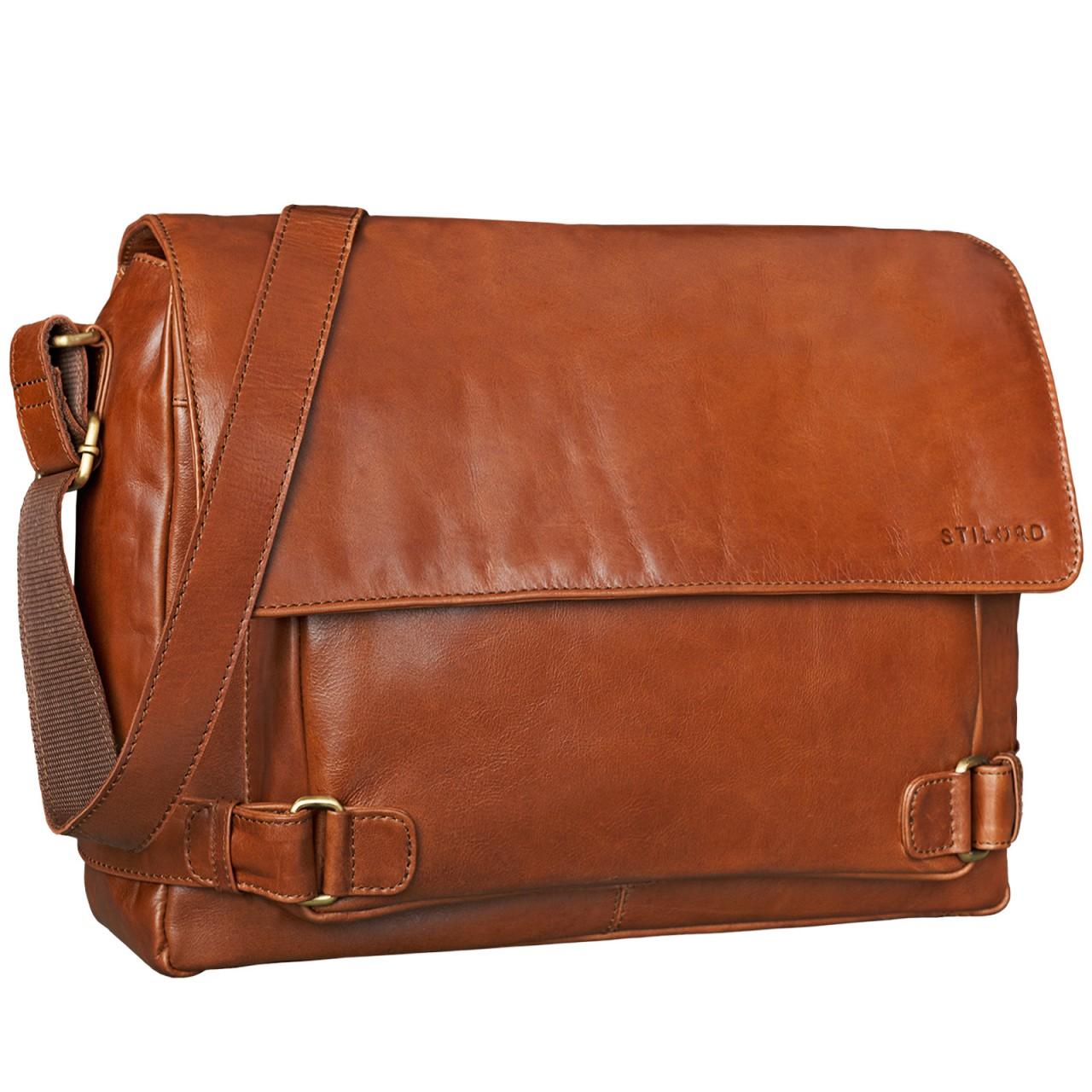 """STILORD """"Luca"""" Leder Businesstasche 15,6 Zoll Laptop Messenger Bag Vintage Aktentasche Umhängetasche Schultertasche Unisex Echtleder - Bild 10"""