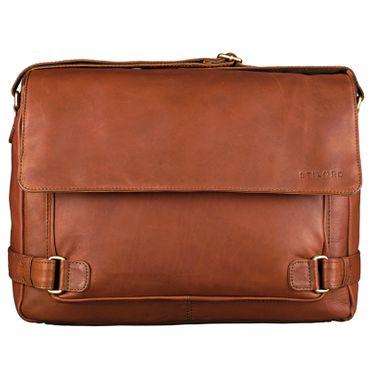 """STILORD """"Luca"""" Leder Businesstasche 15,6 Zoll Laptop Messenger Bag Vintage Aktentasche Umhängetasche Schultertasche Unisex Echtleder – Bild 3"""