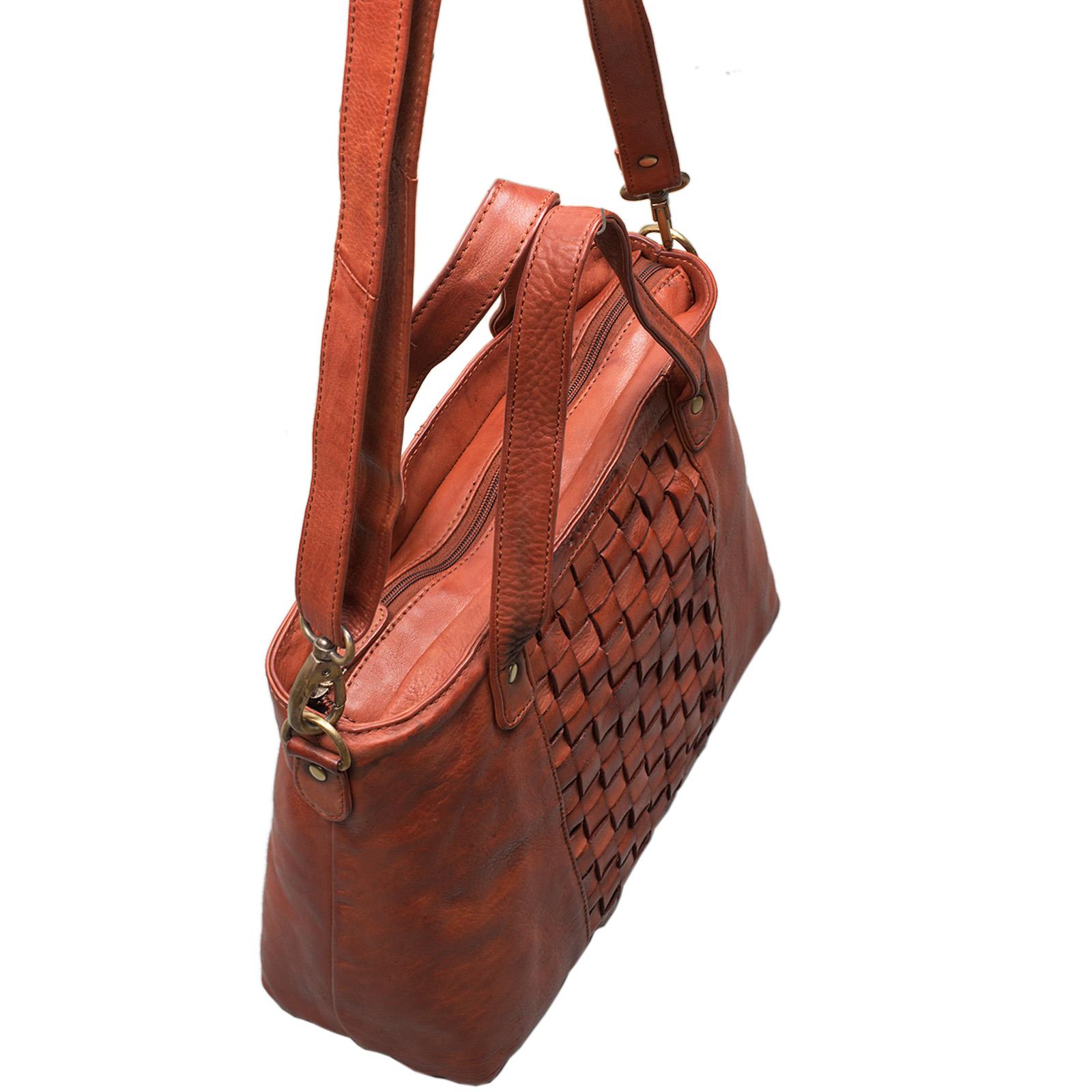 """STILORD """"Mara"""" Elegante Handtasche geflochtenes Leder mit abnehmbaren Schulterriemen Abendtasche Ausgehtasche Echtleder - Bild 19"""