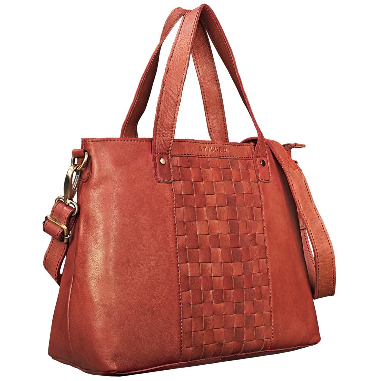 """STILORD """"Mara"""" Elegante Handtasche geflochtenes Leder mit abnehmbaren Schulterriemen Abendtasche Ausgehtasche Echtleder - Bild 8"""