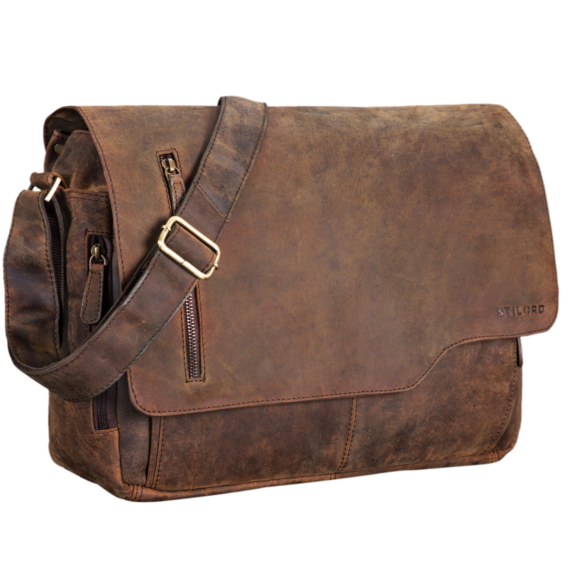 """STILORD """"Marlon"""" Ledertasche Herren Business Uni Büro Vintage Umhängetasche groß DIN A4 mit 15.6 Zoll Laptopfach elegante Aktentasche aus echtem Rinds Leder - Bild 16"""