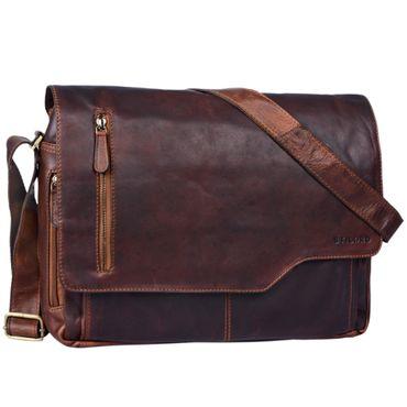 """STILORD """"Marlon"""" Ledertasche Herren Business Uni Büro Vintage Umhängetasche groß DIN A4 mit 15.6 Zoll Laptopfach elegante Aktentasche aus echtem Rinds Leder"""