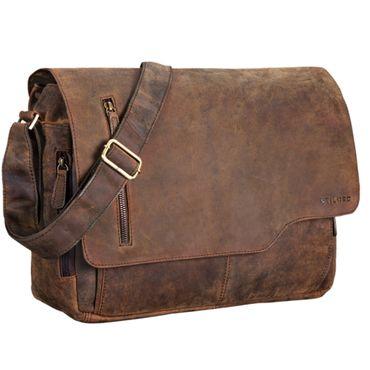 """STILORD """"Marlon"""" Ledertasche Herren Business Uni Büro Vintage Umhängetasche groß DIN A4 mit 15.6 Zoll Laptopfach elegante Aktentasche aus echtem Rinds Leder – Bild 16"""