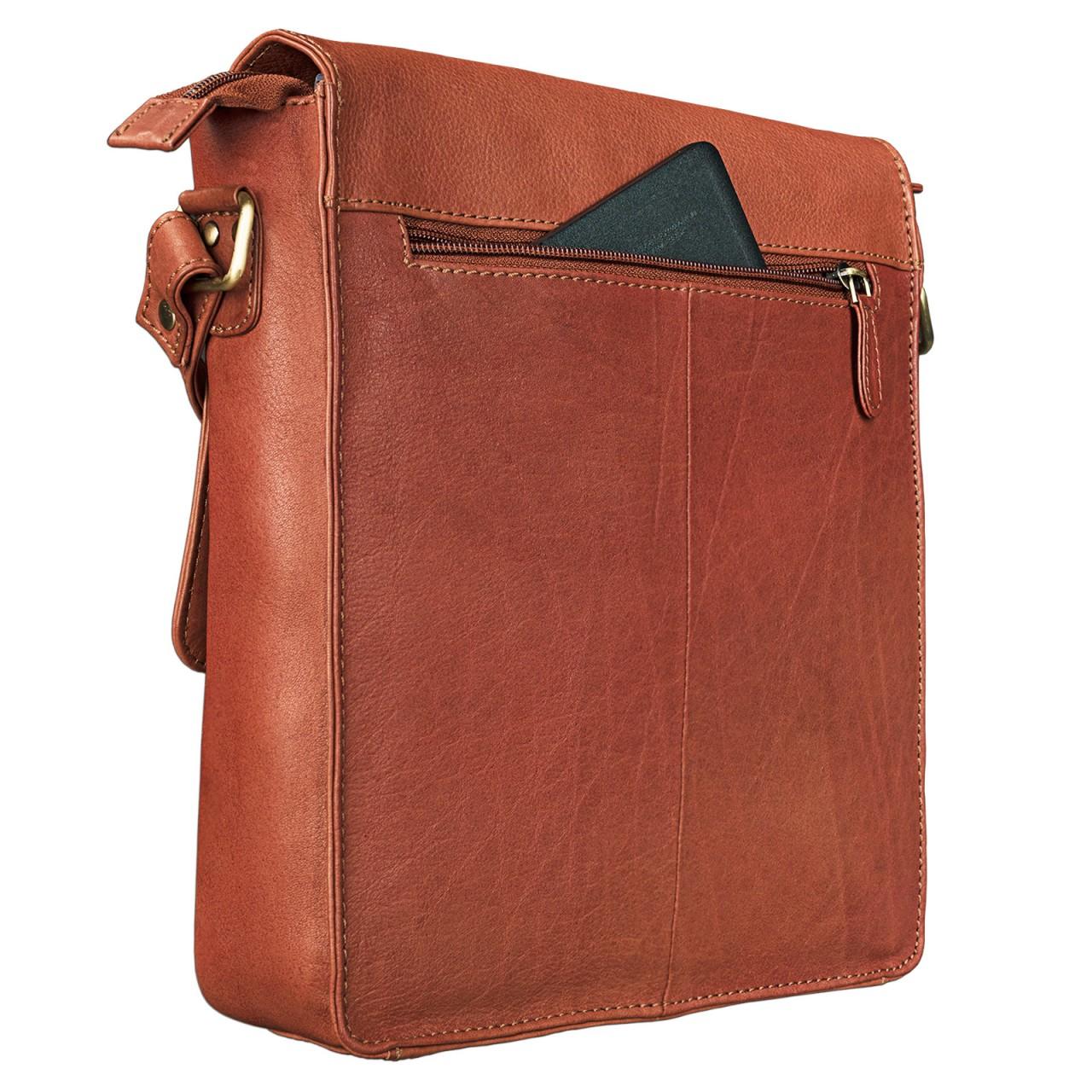 """STILORD """"Jonas"""" Vintage Herrentasche Leder braun Umhängetasche mit Reißverschluss Messenger Bag kleine Kuriertasche für 10,1 Zoll Tablet iPad echtes Leder - Bild 15"""
