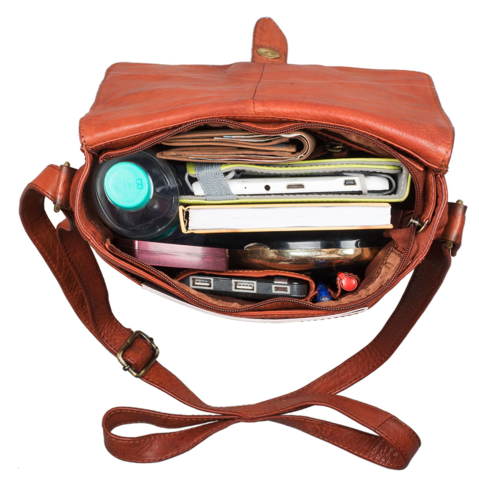 """STILORD """"Jonas"""" Vintage Herrentasche Leder braun Umhängetasche mit Reißverschluss Messenger Bag kleine Kuriertasche für 10,1 Zoll Tablet iPad echtes Leder - Bild 20"""