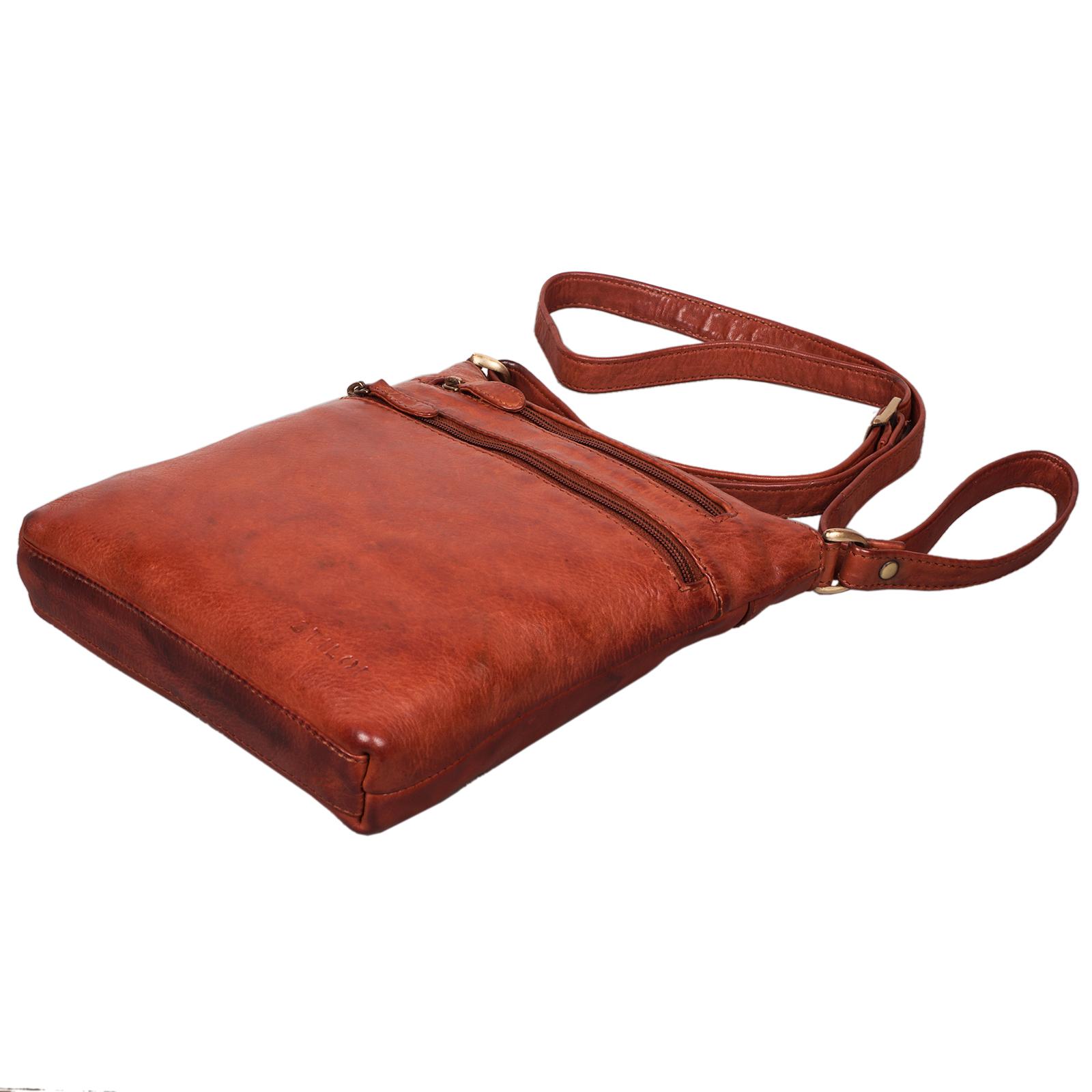 """STILORD """"Juna"""" Damen Umhängetasche Leder braun Handtasche kleine Schultertasche Vintage Damentasche Ausgehtasche für Freizeit Party 9,7 Zoll Tablet iPad Echtleder - Bild 7"""
