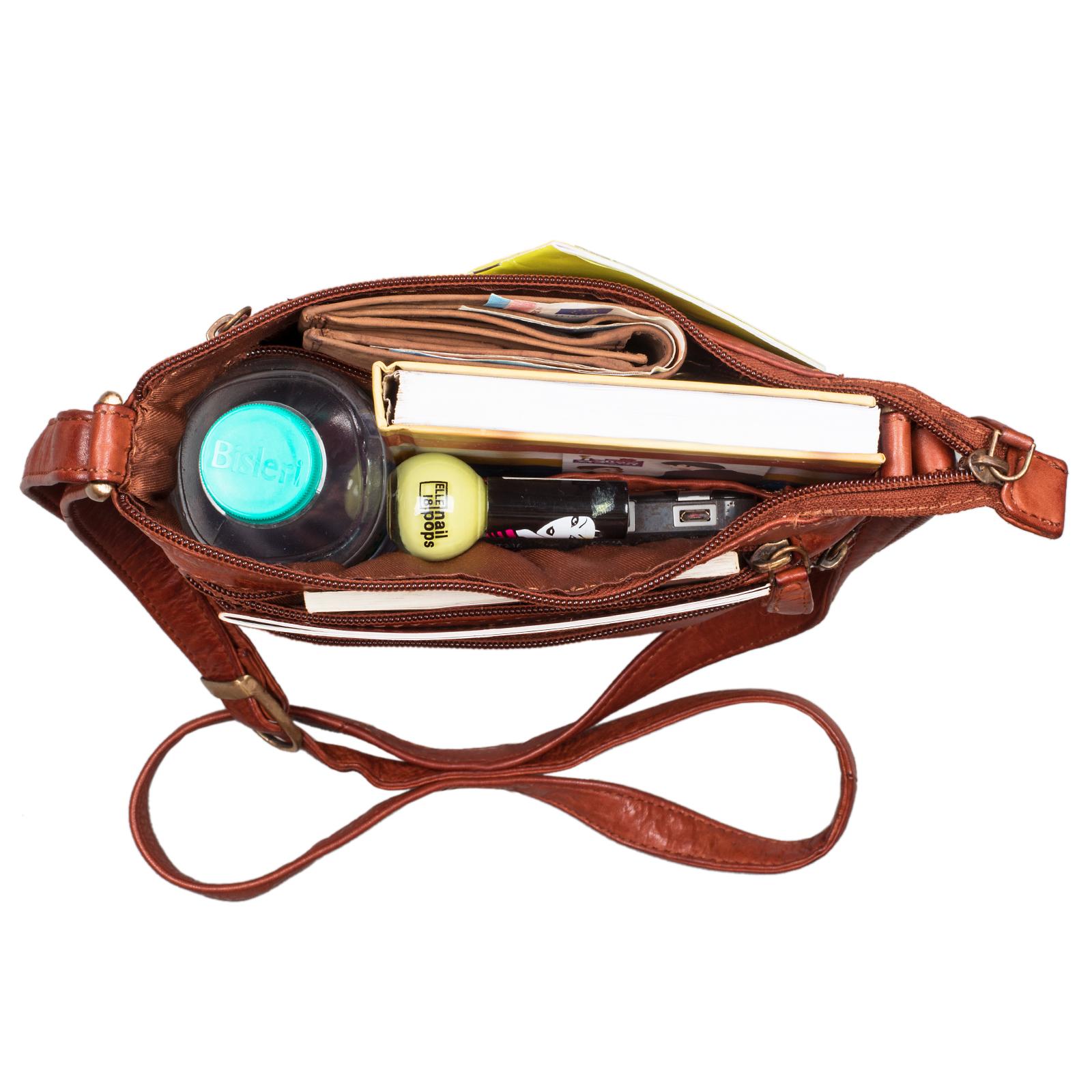 """STILORD """"Juna"""" Damen Umhängetasche Leder braun Handtasche kleine Schultertasche Vintage Damentasche Ausgehtasche für Freizeit Party 9,7 Zoll Tablet iPad Echtleder - Bild 5"""