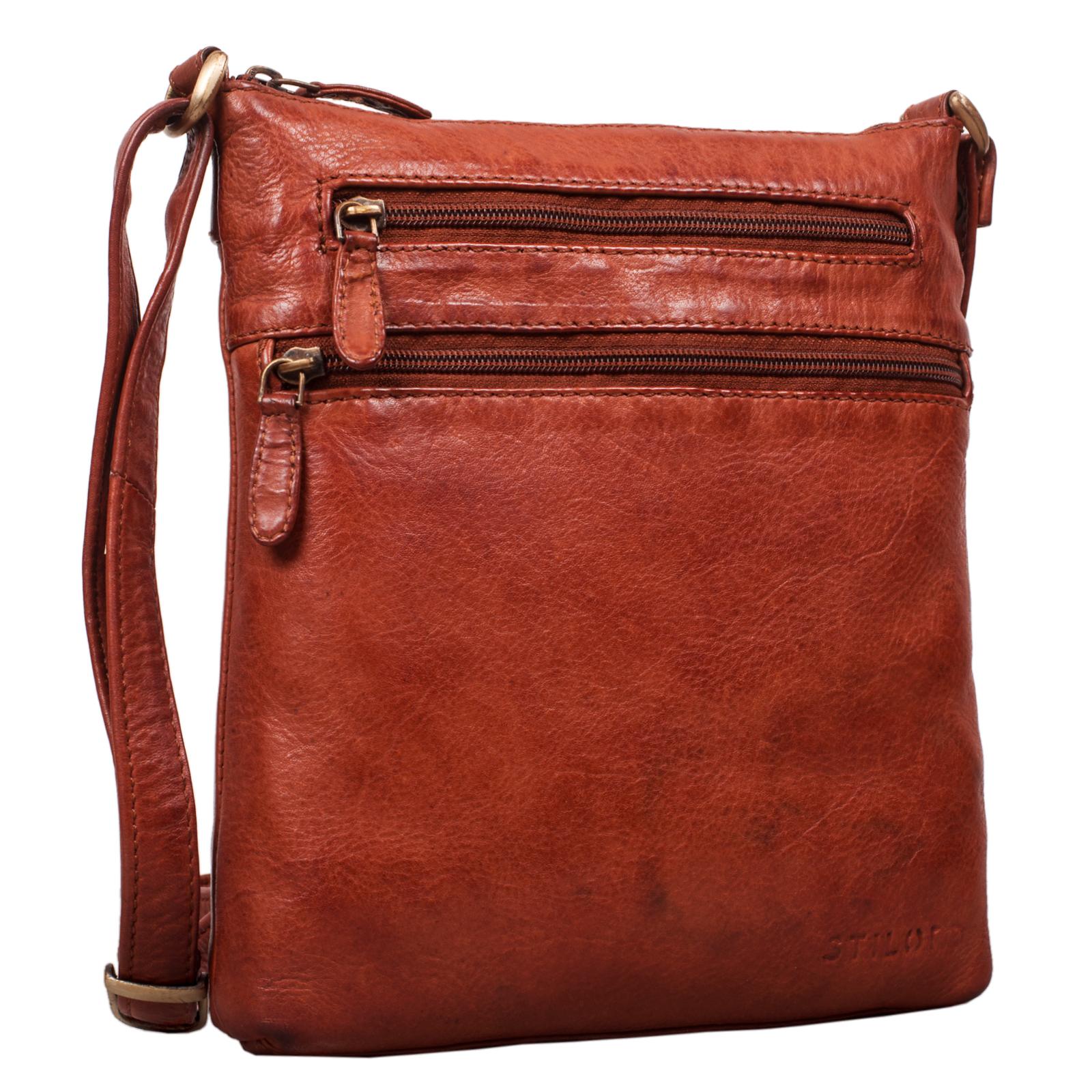 """STILORD """"Juna"""" Damen Umhängetasche Leder braun Handtasche kleine Schultertasche Vintage Damentasche Ausgehtasche für Freizeit Party 9,7 Zoll Tablet iPad Echtleder - Bild 2"""