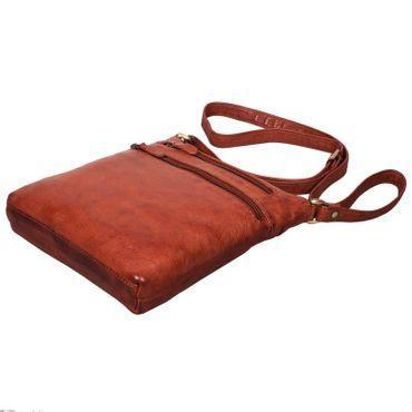 """STILORD """"Juna"""" Damen Umhängetasche Leder braun Handtasche kleine Schultertasche Vintage Damentasche Ausgehtasche für Freizeit Party 9,7 Zoll Tablet iPad Echtleder – Bild 7"""