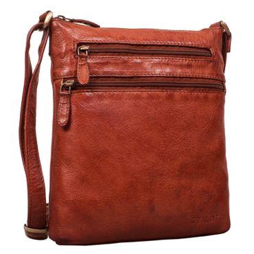 """STILORD """"Juna"""" Damen Umhängetasche Leder braun Handtasche kleine Schultertasche Vintage Damentasche Ausgehtasche für Freizeit Party 9,7 Zoll Tablet iPad Echtleder – Bild 2"""