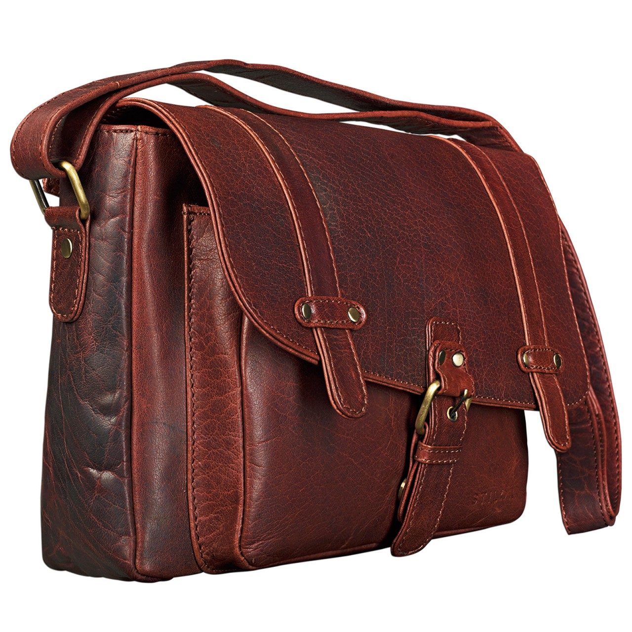 """STILORD """"Lara"""" Vintage Umhängetasche Damen klein Leder Handtasche zum Ausgehen Party Freizeit Umhängetasche Schultertasche 10.1 Zoll Tablettasche echtes Leder - Bild 9"""