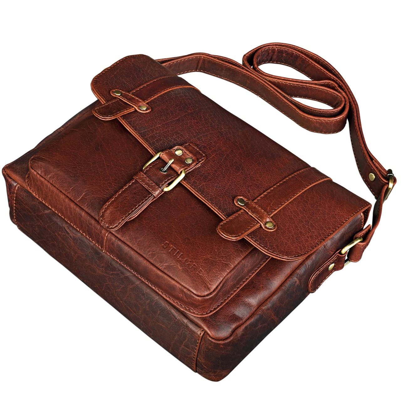 """STILORD """"Lara"""" Vintage Umhängetasche Damen klein Leder Handtasche zum Ausgehen Party Freizeit Umhängetasche Schultertasche 10.1 Zoll Tablettasche echtes Leder - Bild 12"""