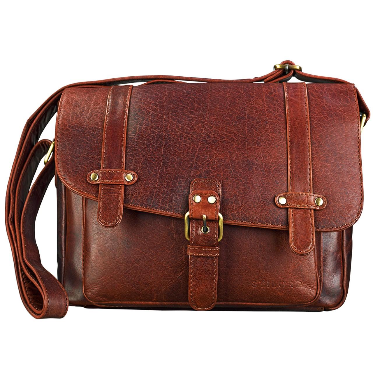 """STILORD """"Lara"""" Vintage Umhängetasche Damen klein Leder Handtasche zum Ausgehen Party Freizeit Umhängetasche Schultertasche 10.1 Zoll Tablettasche echtes Leder - Bild 8"""