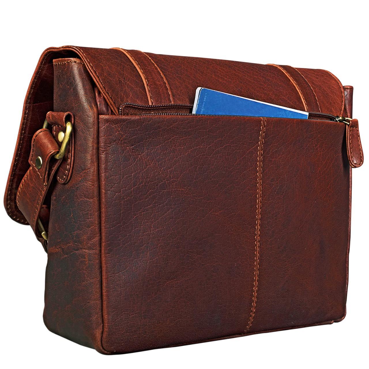"""STILORD """"Lara"""" Vintage Umhängetasche Damen klein Leder Handtasche zum Ausgehen Party Freizeit Umhängetasche Schultertasche 10.1 Zoll Tablettasche echtes Leder - Bild 14"""