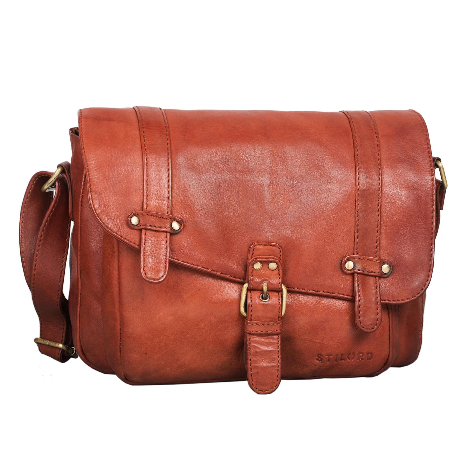 """STILORD """"Lara"""" Vintage Umhängetasche Damen klein Leder Handtasche zum Ausgehen Party Freizeit Umhängetasche Schultertasche 10.1 Zoll Tablettasche echtes Leder - Bild 16"""