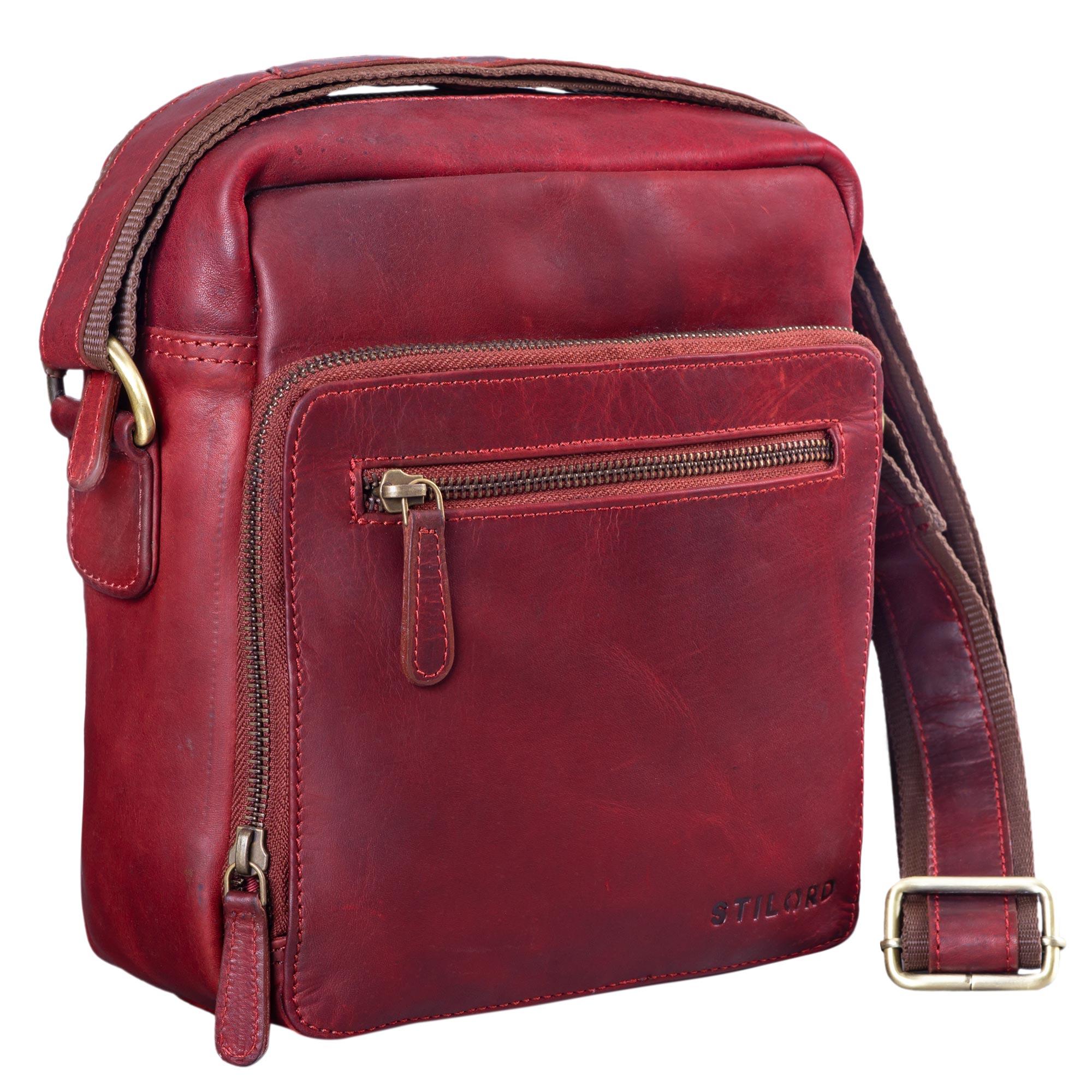 """STILORD """"Nathan"""" Umhängetasche Herren Leder klein braun Vintage Herrentasche 10,1 Zoll Tablettasche für iPad echtes Leder  - Bild 10"""